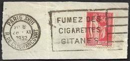 Fumez Des Cigarettes Gitanes  - Obliteration Flier - Marcophilie (Lettres)