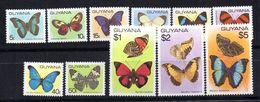Serie  Nº 522/33 Guyana - Butterflies