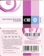 GREECE - Q Telecom Prepaid Card 10 Euro, Exp.date 28/02/10, Used - Greece
