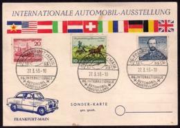 Deustchland - Sonder Karte - 1953 - Internationale Automobil Ausstellung - Frankfurt Main - [7] République Fédérale