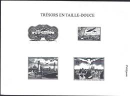 Carte XII E Congrès De L'Union Postale Universelle Paris 1947 (4 Essais De Timbres Noir/blanc, A5) Phil@poste - France