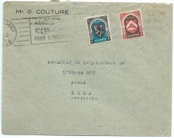 LETTRE  / ALGER ALGERIE POUR ORAN / BLASON - Algeria (1924-1962)