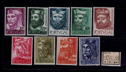 KINGS Portugal Mint ** Set Original Gum  Portugal (issue 1955) Medieval War Castles  #9769 - Oblitérés