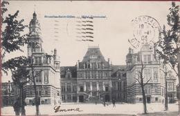 Brussel Bruxelles St-Gillis Gilles Saint Hotel Communal RARE ZELDZAAM Geanimeerd 1905 Vers Bordeaux - St-Gillis - St-Gilles