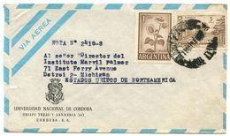 Argentina 1960's Airmail Cover Cordoba - Universidad Nacional De Cordoba - Argentina