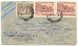 Argentina 1964 Airmail Cover Buenos Aires To Birmingham, Michigan - Argentina