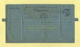 Telegramme - Pour Bar Le Duc De Blois - 1895 - Telegramas Y Teléfonos