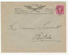 1906 SWEDISH STENOGRAPH CO  ADVERT COVER Nalden To Skofde SWEDEN  Stamps Stenography - Sweden