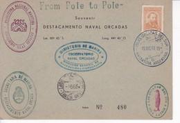SOUTH ORKNEYS ISLAS ORCADAS DEL SUR.YEAR 1963. ANTARCTICA ARGENTINE. AVEC 6 OBLITERATIONS-RARE- BLEUP - Bases Antarctiques