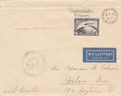 Deutsches Reich Zeppelin Brief 1929 1. Amerikafahrt - Allemagne
