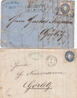 AD Sachsen 2 Briefe 1867 - Sachsen