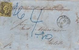 AD Sachsen Brief 1858 - Saxe