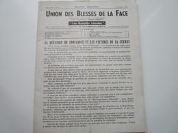 """UNION DES BLESSES DE LA FACE - """"Les Gueules Cassées"""" - N°111 (36 Pages) - LA QUESTION DE CONFIANCE ET..... - Revues & Journaux"""