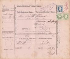 Osterreich Paketkarte 1881 - Österreich