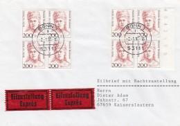 Bund Eilbrief Mit Nachtzustellung 1986 - BRD
