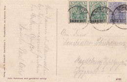 Deutsches Reich Saargebiet Postkarte 1921 - Deutschland