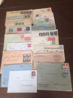 Sammlung 100 Briefe Und Postkarten Mit Propaganda Deutsches Reich - Stamps