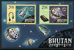 Bhutan Bl 4 Telstar, ITU, Neuf** Sans Charniere, Mint NH, Scott 55a - Bhutan
