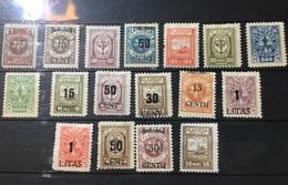 Good Lot Of 1923 Values MLH - 17 Stamps - Memel (Klaïpeda)