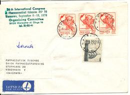 Poland Cover Sent Air Mail To Denmark Warszawa 14-11-1975 - 1944-.... Republic