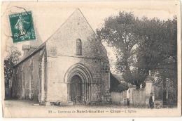 ***  36  ***   Environs De St GAULTIER Ciron L'église - Quelques Auréoles Dos (humidité) - France