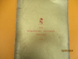 Catalogue/Plaquette De Prestige/The SHAKESPEARE MEMORIAL THEATRE/The Syratford Company/Othello/England/ 1954      CAT228 - Advertising