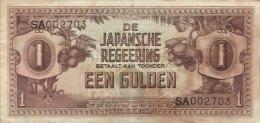 Netherland Indies 1 Gulden, P-123a VF/F - RARE - Niederländisch-Indien