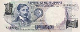 Philippines 1 Piso, P-142b (1969) UNC - Philippines