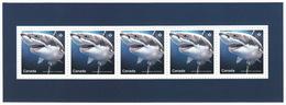 = GREAT WHITE SHARK = SHARKS = Haie = HAIFISCH = REQUIN = Tiburón = SQUALO = Souvenir Sheet From Uncut Sheet Canada 2018 - Maritiem Leven