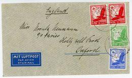 Nr. 531 Schöne MIF Luftpostbrief Nach Oxford / England - Deutschland