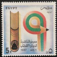 Egypt 1987  19th Intl. Book Fair,Cairo - Unused Stamps