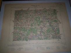 CARTE GEOGRAPHIQUE  G - Format  45 X 57 De  NIEVRE_YONNE_Feuille De VERMENTON  XIX  18 ) En 1901 - Mapas Geográficas