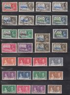 KGV & KGVI Omnibus Issues - Various Colonies - MH & Used - Good CV - Great Britain (former Colonies & Protectorates)