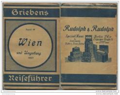 Wien Und Umgebung - 1923 - Mit Drei Karten - 105 Seiten - Band 68 Der Griebens Reiseführer - Oesterreich