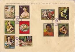 SOBRE ENVELOPE GRAND FORMAT PARAGUAY OBLIT FDC YEAR 1971. CENTENARIO DE LA EPOPEYA NACIONAL 1864-1870 STAMPS-RARE- BLEUP - Paraguay