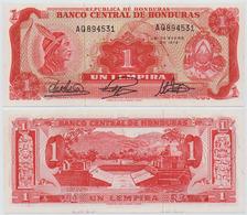 HONDURAS - 1 LEMPIRA INDIAN HEAD NOTE 1972 - UNC - Honduras