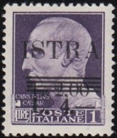 ITALY (Istria Slovene Coast) - SW15 Julius Caesar 'Surcharged' / Mint H Stamp - Italy