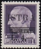 ITALY (Istria Slovene Coast) - YW1323 Julius Caesar 'Surcharged' / Mint H Stamp - Italy