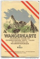 49 Wels 1952 - Wanderkarte Mit Umschlag - Provisorische Ausgabe Der Österreichischen Karte 1:50.000 - Herausgegeben Vom - Landkarten
