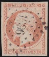 France   .  Yvert   .   16       .    O      .   Oblitéré  .   /   .   Cancelled - 1853-1860 Napoléon III