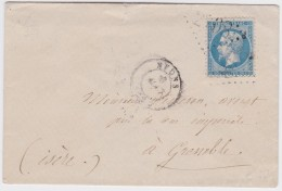France   .  Yvert   .  22  Sur  Lettre    .        O      .   Oblitéré  .   /   .   Cancelled - 1862 Napoleone III