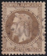 France   .  Yvert   .    30         .        O      .   Oblitéré  .   /   .   Cancelled - 1863-1870 Napoléon III Lauré