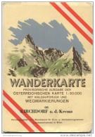 68 Kirchdorf An Der Krems 1953 - Wanderkarte Mit Umschlag - Provisorische Ausgabe Der Österreichischen Karte 1:50.000 - - Landkarten