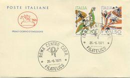 ITALIA - FDC CAVALLINO  1971 -  GIOCHI DELLA GIOVENTU' - SPORT - 1946-.. Republiek