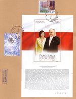 POLAND 2017  President L. Kaczyński.Blok - Anniversary Of The Smolensk Disaster. - Used Stamps
