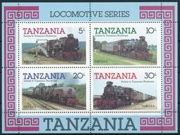 Bl. 44 Tansania In Einwandfreier Postfrischer/** Erhaltung - Lokomotiven - Trains
