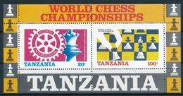 Bl. 54 Tansania In Einwandfreier Postfrischer/** Erhaltung - Schachweltmeisterschaft - Echecs