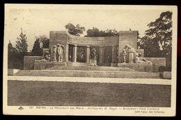 Reims - Monument Aux Morts - Architecte H. Royer - Sculpteur Paul Lefebvre - Reims