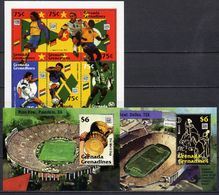 Grenada - Grenadines 1994 Football Soccer World Cup Sheetlet + 2 S/s MNH - World Cup