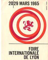 Carte Invitation Foire Internationale De LYON Mars 1965 Offerte Par Metifiot Gamme FIAT Agri - Biglietti D'ingresso